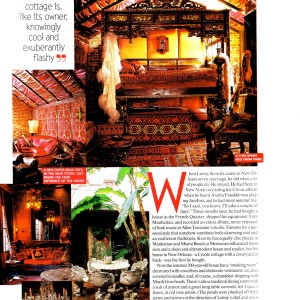 Sarafiné pillows in Vogue for Lenny Kravitz Home in New Orleans